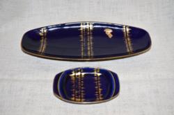 2 db Echt Kobalt kínáló / asztal dísz  ( DBZ 0071 )