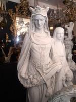 Árpád-házi Szent Erzsébet nagyméretű gipsz szobor
