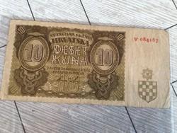 Régi horvát papir penz