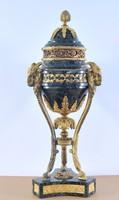 Empire urna, Antico Verde márvány, tűzi-aranyozott bronz