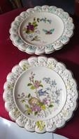 Antik Steisl znaim porcelán disz tányér pár