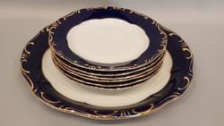 Zsolnay pompadour III. 6 személyes süteményes készlet