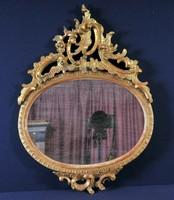 Aranyozott barokk tükör keret, 19. század