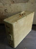 Eredeti beige színű amerikai retro / vintage Samsonite bőrönd / dekoráció