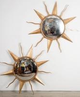 """Aranyozott fém """"nap"""" tükrök"""