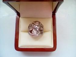 Csodás antik szecessziós stílusú ezüst gyűrű