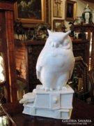 Óriási Heubach Porcelán Bagoly Könyveken Ülő 27cm