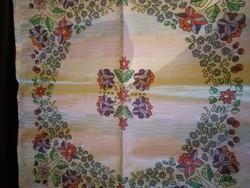 Kalocsai mintás damaszt konyhai garnitúra