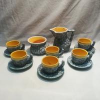 Király retro iparművész kerámia kávéskészlet