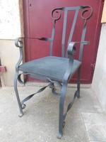 Antik kovácsoltvas szék/trón 100*50*45 cm