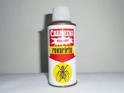 Retro CHEMOTOX super rovarirtó spray flakon - CAOLA gyártó - 1980-as évekből