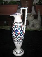 Régi , szép formájú , kézzel festett  ,32 cm es  váza ,jelzés nélkül