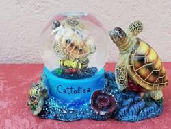 Hógömb, dísztárgy (teknősbéka)