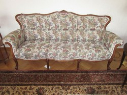 Barok rokoko kanapé egy darab fotelel
