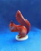 Hollóházi porcelán mókus figura (po-2)
