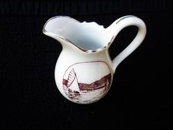 Zsolnay antik Balatoni tejszínkiöntő emléktárgy