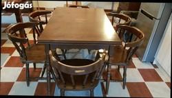 ROMÁN étkezőgarnitúra(asztal + 6 szék)