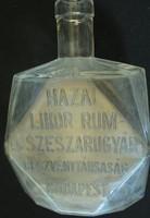 Hazai likőr rum és szeszárugyár üveg