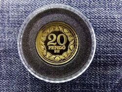 Magyar aranypénzek utánveretben Arany 20 pengő 1928 .999 ezüst PP/id 9967/