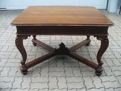 Bécsi barokk asztal, kihúzható 3 méter hosszúságig