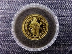 Magyar aranypénzek utánveretben Károly Róbert aranyforint .999 ezüst PP/id 9975/