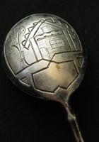 Antik 1898-as orosz ezüstkanál 16 gr