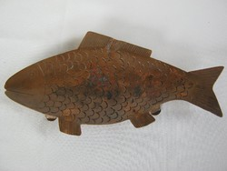 Réz hal alakú tál