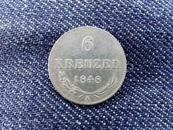 Ausztria V. Ferdinánd (1835-1848) .428 ezüst 6 Krajcár 1848 A/id 9385/