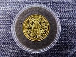 Magyar aranypénzek utánveretben Hunyadi János kormányzói aranyforint .999 ezüst PP/id 9972/