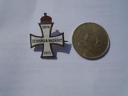 1914-15 Ifjuság a Hazáért, jelvény