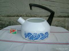 Retro zománcos teás kanna fedele nélkül