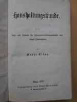 Marie Clima Haushaltungskunde, bécsi háztartás tankönyv 1870