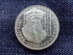 Németország Gerhard Mercator halálának 375. évfordulója .625 ezüst 5 Márka 1969 F