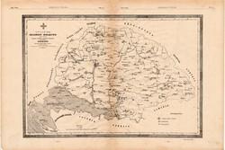 Magyar országos segélyző nőegylet elterjedésének térképe, egyszín nyomat 1881, magyar, Sisi, térkép