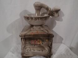 Kerámia kávé - cukor tartó - Olasz - jelzett - 20 x 12 x 12 cm - hibátlan