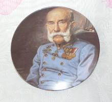 Ferenc József porcelán falitányér