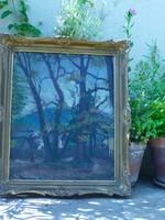 Eladó Pádua Kálmán: Öreg fák árnyékában című olavászon festménye
