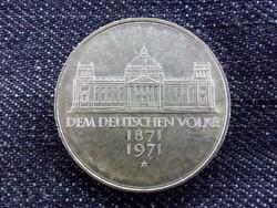 Németország Centenárium - Németország alapítása (Második Birodalom) .625 ezüst 5 Márka 1971 G/id 937