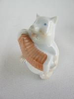 Herendi óherendi jelzésű porcelán vidám kis malac