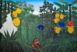 Must or shouldn't? Henri rousseau the custom - original lithography!