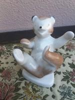 Drasche Porcelán Játszó Medve Kézzel Festett