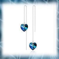 Ezüstözött  kristály fülbevaló EBF-K43-1