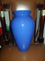 Kék Ikea kerámia váza, 30 cm környékén, új, makulátlan