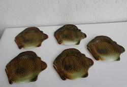 5 db -os Gránit halas fajansz tányér készlet