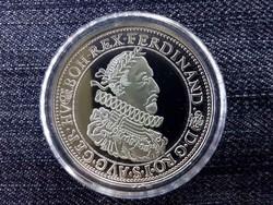 Magyar tallérok utánveretben II. Ferdinánd tallérja .999 ezüst PP/id 10030/