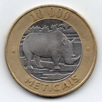 Mozambik 10 000 Meticais, 2003, bimetál