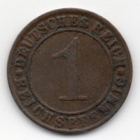 Németország 1 német birodalmi pfennig, 1925G