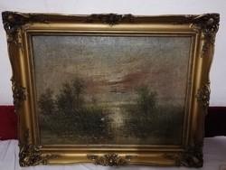 Mesterházy Dénes olaj vászon festmény