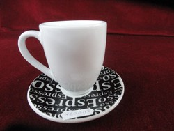 Német porcelán kávéscsésze + alátét. Caffe bár Kőnitz.