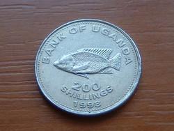 UGANDA 200 SHILLINGS 1998 Chiclid fish, Bölcsőszájúhal #